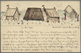 Deutsch-Ostafrika - Besonderheiten: 1900 (22.5.), Stempel DAR-ES-SALAAM Auf 3 Pesa-GA-Karte Vom Kaiserlichen Landmesser