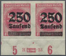 Deutsches Reich - Inflation: 1923, 250 T. Auf 500 M., Ungezähntes Waagerechtes Paar Vom Unterrand Mit HAN In Tadell