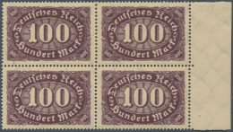 Deutsches Reich - Inflation: 1923, Mi. Nr. 247 DD Postfrisch - Doppeldruck -  4-er Block Vom Rechten Seitenrand Mit Foto