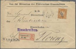Bayern - Marken Und Briefe: 1901, Größerformatige Eisenbahn-Dienstsache Mit Einzelfrankatur Ab LUDWIGSHAFEN P - Bavaria