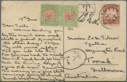 """Bayern - Marken Und Briefe: 1888, 10 Pfg. Wappen Mit Stempel """"MUENCHEN 13.JUN.(06)"""" Auf Unterfrankierter Auslandspostkar - Bavaria"""