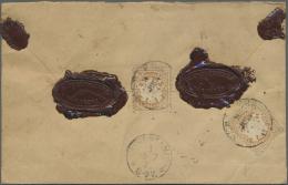 Bayern - Marken Und Briefe: 1876, 25 Pfg. Wappen Braunocker, Zwei Einzelwerte Rückseitig Als Portogerechte Mehrfach - Bavaria