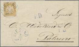 """Bayern - Marken Und Briefe: 1873, 10 Kr. Dunkelgelborange Mit Wasserzeichen 1 X Und Klarem EKr. """"GIESING 3.JUL.(75)"""" Als - Bavaria"""