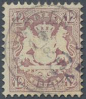 Bayern - Marken Und Briefe: 1870, 12 Kr. Lila, Wz. Enge Rauten, Farbfrisches Und Gut Gezähntes Exemplar, Voll Und Z - Bavaria