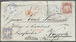 Bayern - Marken Und Briefe: 1872, Zwei Briefe Aus Gleicher Korrespondenz Mit 3 Und 7 Kr. Weite Rauten Gezähnt Nach - Bavaria