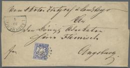 """Bayern - Marken Und Briefe: 1868, 7 Kreuzer Mit PLATTENFEHLER """"Kreis Um Re. Obere Wertziffer Mehrfach Beschädigt"""" E - Bavaria"""