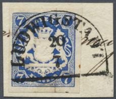 Bayern - Marken Und Briefe: 1868, 7 Kr. Preußischblau, Farbtiefes, Allseits Voll- Bis Meist Breitrandiges Exemplar - Bavaria