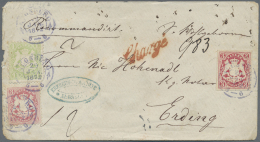Bayern - Marken Und Briefe: 1867, Wappenausgabe 3 Kr. Rot, Allseits Breitrandig Geschnitten Und Gezähnte Ausgabe 18 - Bavaria