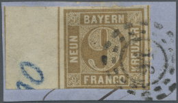 Bayern - Marken Und Briefe: 1862, 9 Kr. Ockerbraun Mit Vollständigem, 13.5.mm Breitem Zwischenstegansatz Und Schnit - Bavaria