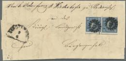 Bayern - Marken Und Briefe: 1862: Brief Der 4. Gewichtsstufe Mit Zweimal 6 Kreuzer Blau Vom Unterrand (ursprünglich - Bavaria
