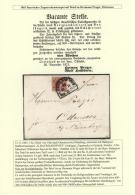 """Bayern - Marken Und Briefe: 1862, 3 Kreuzer Rot Entwertet Mit Bahnpost-Segmentstpl. """"ULM-MÜNCHEN"""" Auf Kpl. Faltbrie - Bavaria"""