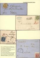 """Bayern - Marken Und Briefe: 1862, III Ausgabe """"Ziffer Im Quadrat"""", 4 Schöne Briefe  Jeweils EF 1 Kr Gelb Aus """"N&Uum - Bavaria"""