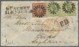 Bayern - Marken Und Briefe: 1953, Sehr Seltene 24 Kr. Frankatur Nach England: Seidenpapier-Briefumschlag Mit Einem Paar - Bavaria