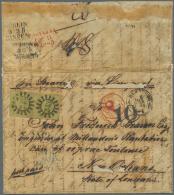 """Bayern - Marken Und Briefe: 1853, 9 Kr. Geblichgrün Im Waagerechten Paar Mit MR """"243"""" Auf Auslands-Faltbrief Aus """"N - Bavaria"""