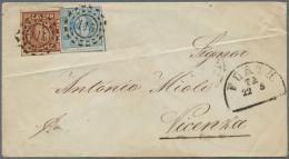 """Bayern - Marken Und Briefe: 1856, 2 X 6 Kr Braun, Je Gut Gerandet Und Mit MR """"243"""" Entwertet Als MeF Auf Faltbrief Von N - Bavaria"""