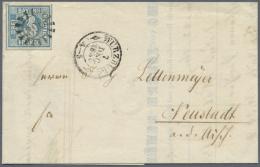 Bayern - Marken Und Briefe: 1949, 3 Kr. Preußischblau, Platte 1, Allseits Breitrandig Mit Trennlinien An Drei Seit - Bavaria