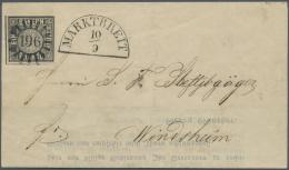 Bayern - Marken Und Briefe: 1849, 1 Kr. Schwarz, Platte 2, Farbfrisches Und Allseits Voll- Bis Breitrandiges Exemplar, L - Bavaria