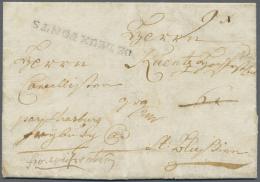 """Bayern - Vorphilatelie: """"DE DEUX PONTS"""", Schwarzer L1 Klar Auf Komplettem Faltbrief (datier St. Ingbert 1863) Mit Leitve - Germany"""
