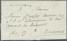 """Bayern - Vorphilatelie: """"DE HOMBOURG"""", Schwarzer L1 Klar Auf Komplettem Faltbrief (datiert 1787) Mit Taxvermerk """"0"""" Nach - Germany"""