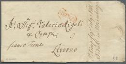 """Bayern - Vorphilatelie: 1777, Kompletter Faltbrief Aus """"VONSIEDEL"""" (Wunsiedel) über Forwarder P. RICAP In NORIMBERG - Germany"""