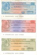 90 - N. 3 MINIASSEGNI ISTITUTO BANCARIO SAN PAOLO DI TORINO - Monete & Banconote