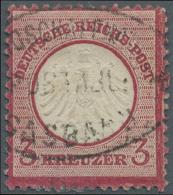 """Baden - Postablagestempel: 1872, 3 Kr.  Kleiner Schild, Ausgefallenes Zahnloch 7. FZL R7, Seltener Postablagestempel """"SA - Baden"""
