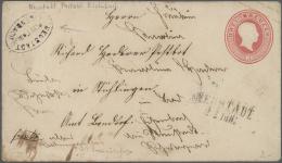 """Baden - Postablagestempel: NEUSTADT-EISENBACH Postablage-Stempel Auf GA-Umschlag 1862, 3 Kr. Karminrosa Mit K2 """"NEUSTADT - Baden"""