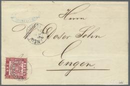 """Baden - Ortsstempel: """"NEUFREISTEDT 22 DEZ (1871)"""" K1 (später Postort) Auf Frischem Kabinett-Faltcouvert Mit 3 Kr. W - Baden"""