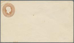 Baden - Ganzsachen: 1858 GSU 12 Kreuzer Hellbraun In Sehr Frischer Ungebrauchter Erhaltung, Unterer Rand 3 Kleine Punkte - Baden