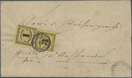 Baden - Landpostmarken: 1 Kr. Dünnes Papier Mit 3 Kr. Dickes Papier Auf Kab-Brief Mit NS 36 Und K2 EDMMENDINGEN, Rs - Baden