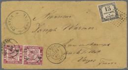 Baden - Marken Und Briefe: 1870, Baden Paar 3 Kr. Karmin Auf Couvert, Während Des Deutsch-Französischen Kriege - Baden