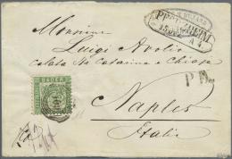 """Baden - Marken Und Briefe: 1862, 18 Kr. Grün Mit Nummernstempel """"109"""" Als Portogerechte Einzelfrankatur Auf Innen N - Baden"""