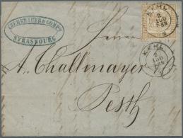 Baden - Marken Und Briefe: 1864, 9 Kr. Mittelchromgelb, Farbfrisch Und Gut Gezähnt (Stockfleck Links Unten) Mit Kla - Baden