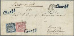 Baden - Marken Und Briefe: 1862, 6 Kr. Preußischblau (verkürzter Eckzahn Rechts Unten) Und 3 Kr. Hellrot Je M - Baden