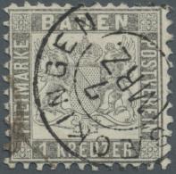 Baden - Marken Und Briefe: 1862, 1 Kreuzer Silbergrau In Sehr Guter Zähnung Und Zentrierung Mit Sauberem K2 SAECKIN - Baden