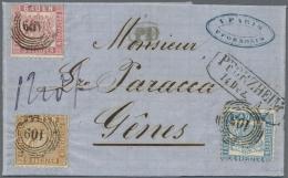 Baden - Marken Und Briefe: 1862, FRANKATUR UNIKAT Mit 9 Kr Braun (linierter Hintergrund) Zusammen Mit 3 Kr Karmin Und 6 - Baden