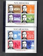 NICARAGUA BLOC 106/107**  SUR LE POETE RUBEN DARIO