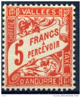 ANDORRE FRANCAIS TAXE Yvert & Tellier N° 20 ** Année 1938/41  LUXE  Neuf **  MNH