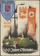 """Ansichtskarten: Propaganda: 1935, """"600 Jahre OSTERODE Ostpreußen"""" Farbige Festpostkarte Sign. BIRTH Mit Entspreche - Political Parties & Elections"""