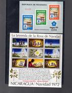 NICARAGUA BLOC 110 + 112**  SUR L EXPO D OSAKA ET LE TREMBLEMENT DE TERRE