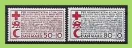 Denmark, 1966 Mi 438-439 ** MNH Postfrisch RED CROSS