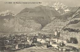 Suisse -ref C854- Saint Maurice - St Maurice  - Valais Et La Dent Du Midi - Carte Bon Etat - - VS Valais