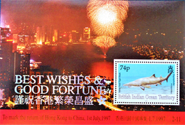 RETROCESSION DE HONG-KONG A LA CHINE 1997 - NEUF ** - MI BL 5 - Territoire Britannique De L'Océan Indien