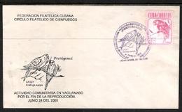 "CUBA, 2005, Birds: Parrots: ""Aratinga Euops"", FDC"