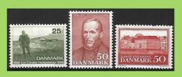 Denmark, 1966 Mi 440+441+442 ** MNH Postfrisch