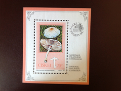 Ciskei 1987 Fungi Mushrooms Minisheet MNH