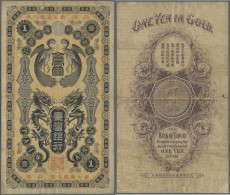 Taiwan: 1 Gold Yen 1904 P. 1911, 3 Strong Horizontal And One Vertical Fold, No Holes Or Tears, Still Strongness In Paper - Taiwan