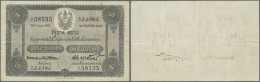 Thailand: 1 Tical 1921 P. 14, 3 Vertical And One Horizongal Fold, No Holes Or Tears, Still Cripsness In Paper And Origin - Thailand