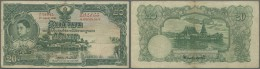 Thailand: Government Of Siam 20 Baht April 1st 1936, P.29, Several Folds And Lightly Stained Paper, Tiny Tear At Upper M - Thailand