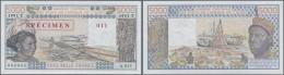 Togo: 5000 Francs 1992 Specimen P. 808Ts (W.A.S.) In Condition: UNC. - Togo
